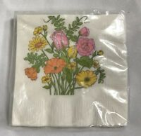 Vintage Hallmark Napkins Beverage Lunch Cake 15 total floral sealed new