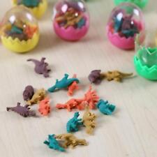 16PCS Gift Toy Kids Children Dinosaur Egg Pencil Eraser Rubber Stationery