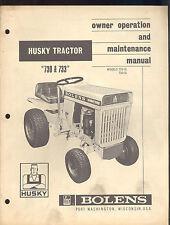 1969 BOLENS HUSKY TRACTOR MODEL 730 - 733 OWNERS OPERATORS & MAINTENANCE MANUAL