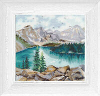 Counted Cross Stitch Kit OVEN - Moraine Lake