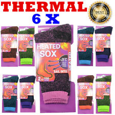 6 Pairs Women Heated Winter Warm Thermal Boots Heavy Duty Sox Socks Size 5-11