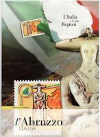 ITALIA -FOLDER 2004 - REGIONI L'ABRUZZO VALORE  FACCIALE € 7,00 sconto 30%