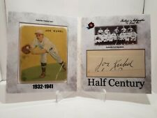 2020 Historic Autographs Half Century Joe Kuhel Cut Auto