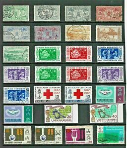 NEW HEBRIDES Stamp COLLECTION George V to QEII Mint Used REF:QV858a