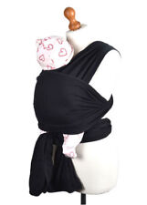 Palm & Pond Stretchy Baby Wrap Sling Carrier - Soft Black 100% Cotton