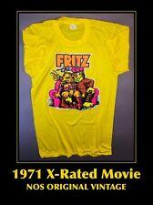 1971 XxX Fritz The Cat NOS vtg R Crumb Cartoon Comic X-Rated Movie ORIG T-Shirt*