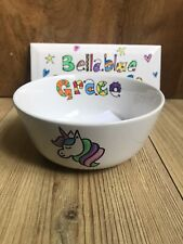 Hand painted Personalised Unicorn Cereal Bowl Custom Any Name