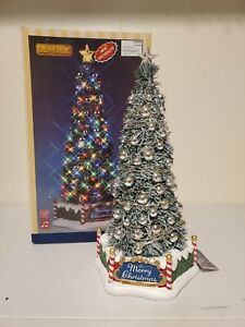 Lemax Village Collection Lighted Table Accent New Majestic Christmas Tree