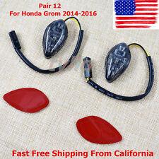 NEW Pair 12 FLUSH LED Turn Signals Light Mounting kit For Honda Grom 2014-2016