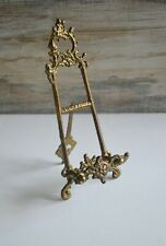 Vintage Ornamental Wrought Iron Display Easel for Art / Pictures / Plates