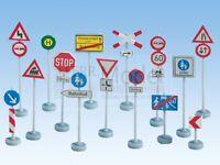 NOCH 60521 - Set segnali stradali scala H0 - 1:87, 63 pali  270 segnali