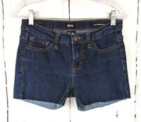 Womens BDG Denim Shorts Mid Rise Dark Wash 27 Cut Off Jeans Stretch