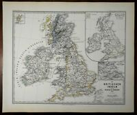 William the Conqueror British Isles England 1066 Spruner 1877 historical map