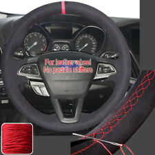 Steering Wheel Cover DIY Sewing Suede Wrap for Ford Focus 15 16 17 2018 Escape