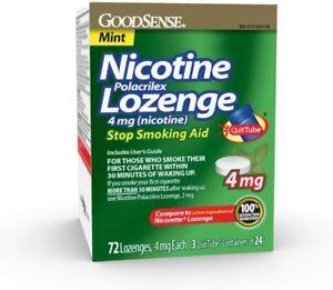 GoodSense Nicotine Polacrilex Lozenge 4mg Mint Flavor 72 count Exp. 05/31/2021