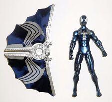 "SPIDER-MAN BATTLE GLIDER Hasbro Action Figure Black Costume 4"" COMPLETE 2009"