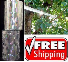 400 Ft Bird Repellent Scare Tape Roll Reflective Bird Blinding Keep Birds Away +