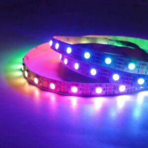 5m WS2812B 5050 RGB 5V 60LED/M LED Strip Lights WS2812 IC White PCB