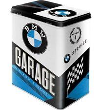 Retro BMW GARAGE Maintenance & Repair STORAGE TIN 3D Cookie BISCUITS Box