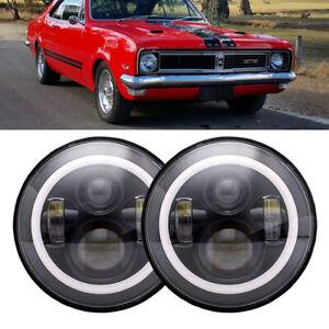 "Pair 7"" LED Halo Headlight Hi/Lo DRL Light For Holden Rodeo Gemini E F H Series"