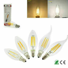 E14 2W 4W 6W Dimmable LED Candle Filament Light Bulbs Lamps Edison SES UK TROY