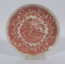 Woods Burslem Seaforth Rot 1 Untertasse für Suppentasse Dm 16 cm Keramik England