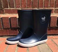 IGOR Just Add Water Navy Blue Kids Splash Nautico Rain Boots Wellies EU 32 US 1
