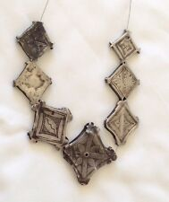 7 RARE Antique SILVER Niello Moroccan Berber Ethnic Tribal BEADS- Superb Style