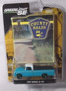 1967 DODGE D-100 Truck  GREENLIGHT County Roads #3 GREEN MACHINE CHASE #86 of 90