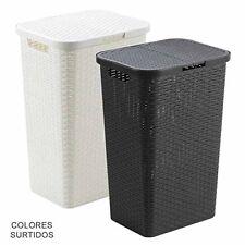 Oryx 21030410 - cesto ropa resina con tapa 80 litros color surtido