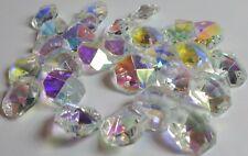 27 Swarovski Crystal Ab 2 Hole Octagon Prism Beads Pendant 14 mm Art. 8116, Nice