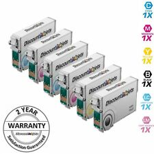 6Pk Ink Cartridges for Epson T078 Stylus Photo R260 R280 R380 RX580 RX595 RX680