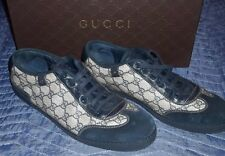 Gucci Guccissima Monogram Navy Suede Signature Sneakers Tennis Shoes ~ Size 10G