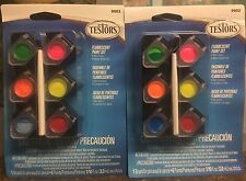LOT OF 2 TESTORS ACRYLIC FLUORESCENT PAINT SET NON-TOXIC #9002 FREE SHIPPING!