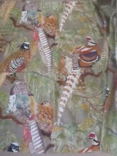Fantastic Mulberry Home 'Game Birds' Linen Fabric Remnant 100 X 148 cm