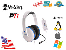 Turtle Beach P11 Ear Force USB Amplified Stereo Gaming Sony PS4 Mac PC Headset