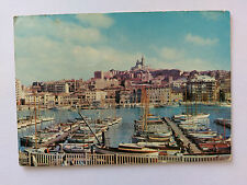 Marseille France Vintage colour Postcard 1974 Le Vieux Port