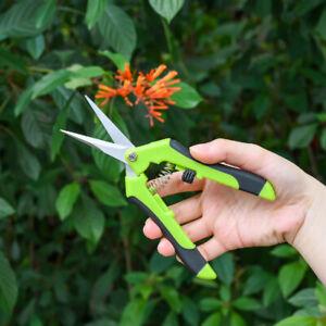 2pcs Portable Garden Scissors Professional Stainless Garden Plant Pruning Shears