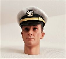 Banjoman échelle 1:6 custom WW2 U.S. Navy officer's White Cap
