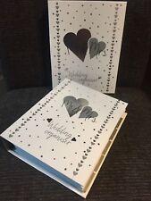 LUXURY WEDDING PLANNER BOOK & ORGANIZER Silver Hearts -ENGAGEMENT Bride gift !