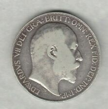 1902 EDWARD VII SILVER CROWN IN FINE OR BETTER CONDITION