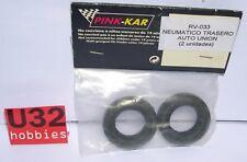 PINK KAR RV033 NEUMATICO TRASERO PARA RESTAURAR AUTO UNION SCALEXTRIC 2 UNIDADES