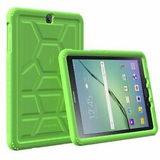 For Samsung Galaxy Tab S2 9.7 Turtle Skin Corner / Bumper Protection Cover Green
