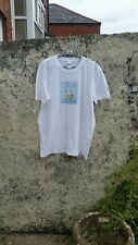 Original Artwork White Seedy Graphic Tee T shirt Size L