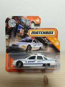 MATCHBOX Chevy Caprice NYPD chevrolet 1/64 3 inches