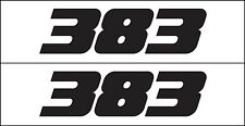 383 Decal Sticker Metro Auto Graphics Fits Mopar Chevy GM Chrysler Engine
