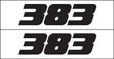 MG 2341 383 Mopar Chevy GM Chrysler Engine Decal Sticker Metro Auto Graphics