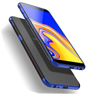 Für Samsung Galaxy J4+,J6+, J4 Plus, J6 Plus 2018 Hülle Case Cover + Glassfolie