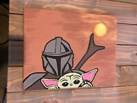 The Mandalorian And Baby Yoda ( Star Wars) Painting