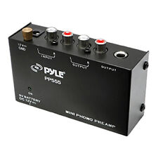 Pyle PP555 Ultra Compact Phono Turntable Pre-Amplifier w/ 9V Battery Compartment